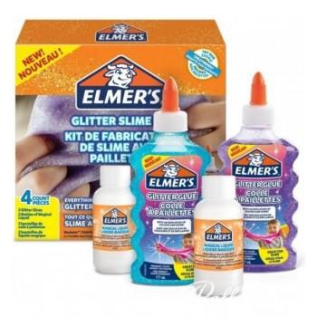 ELMER'S GLITTER SLIME KIT 4pz